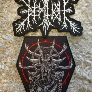 Large embroidered logo + The Adversary patch combo