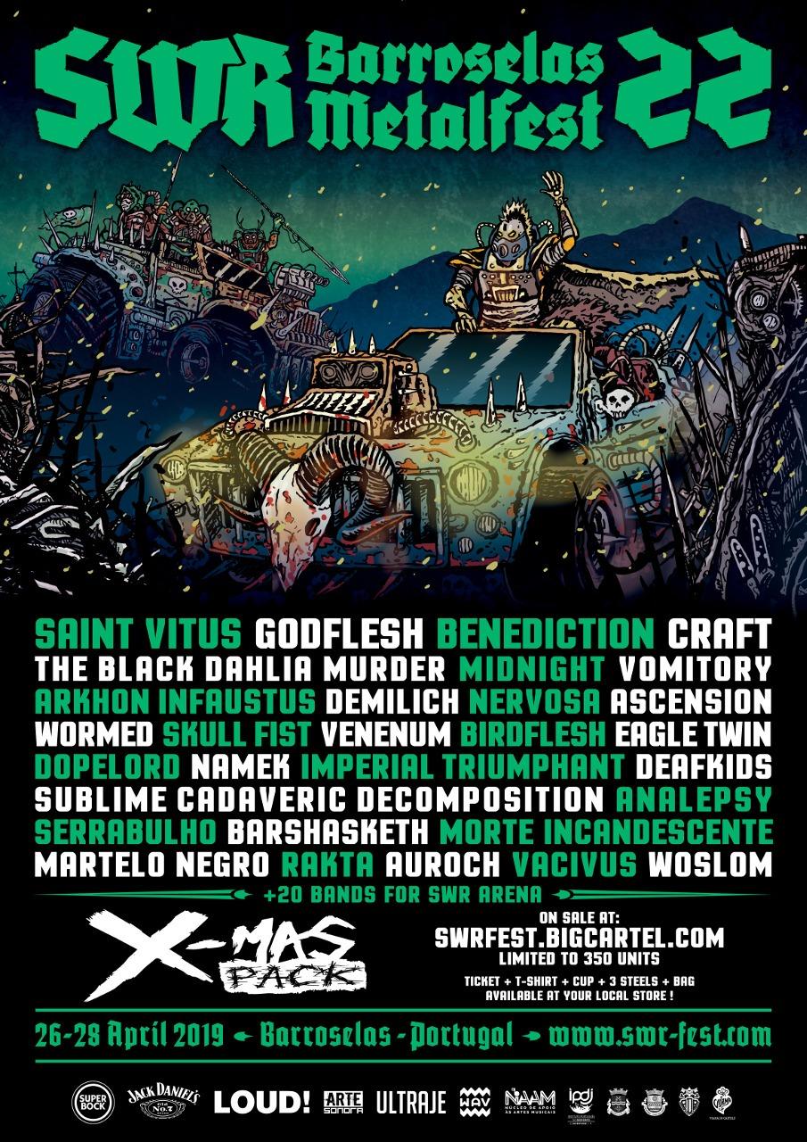 SWR Barroselas Metalfest 22 poster