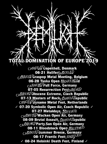 Total Domination Of Europe Tour 2019 Limited T-shirt