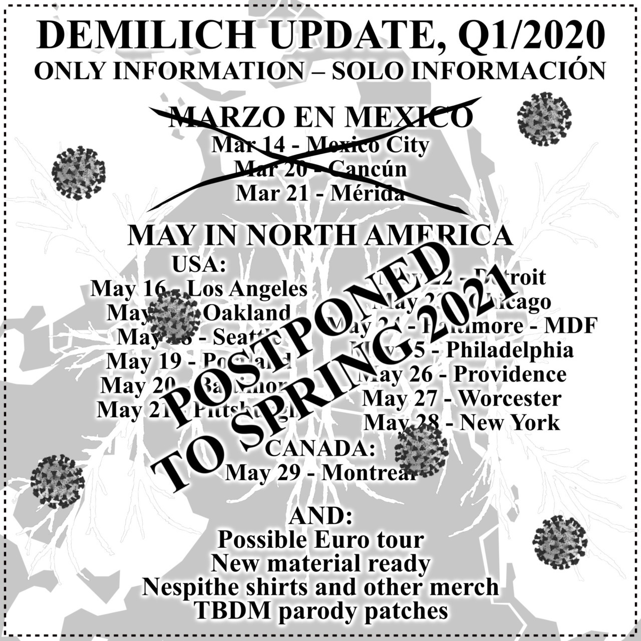 Demilich update, Q1/2020