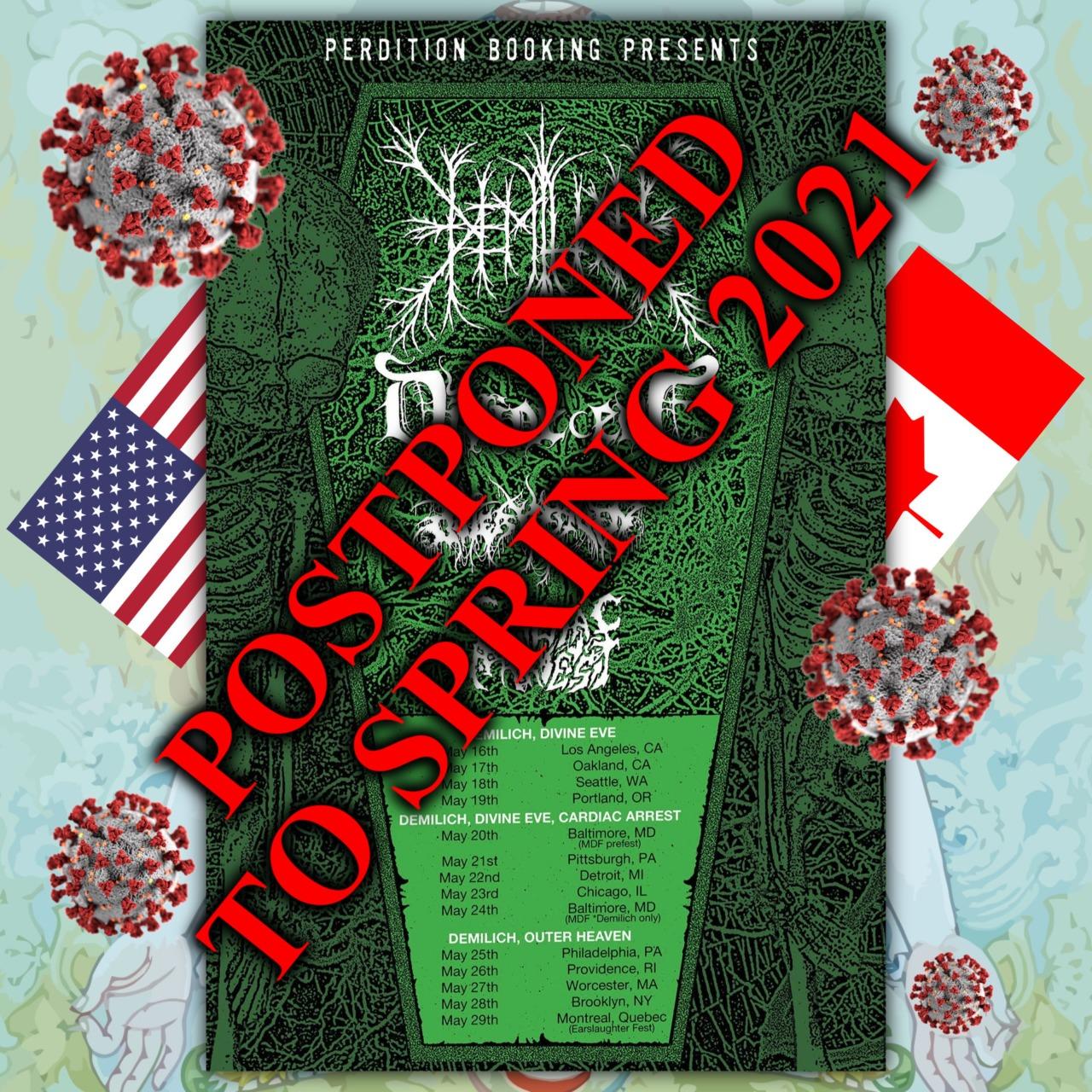 Demilich postpones the North America tour to spring 2021