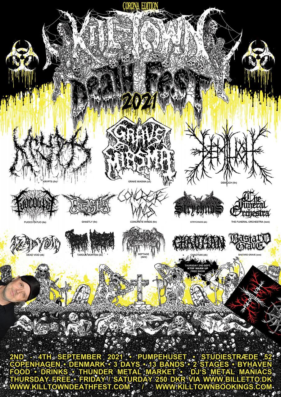 Kill-Town Death Fest 2021 announcement, still the Demilich way